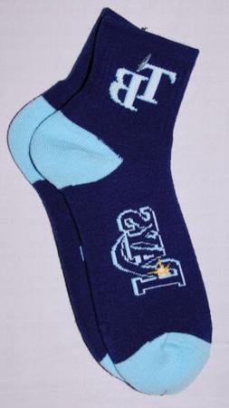 MLB Tampa Bay Rays Team Logo Socks LRG