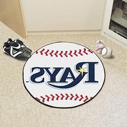 MLB Tampa Bay Rays White Round Baseball Mat