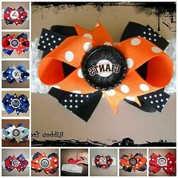 MLB Team Hair Bow With or W/O Headband Baby Toddler *Your Ch