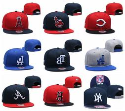 New MLB Baseball Cap Snapback Bill Flat Hats Pick All Teams