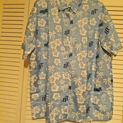 NEW TAMPA BAY RAYS Hawaiian Shirt Short Sleeves Men X-Large