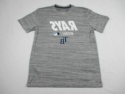 NEW Nike Tampa Bay Rays - Men's Gray Multi Short Sleeve Shir