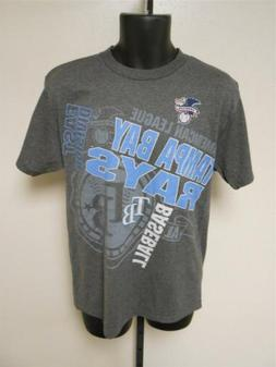 NEW Tampa Bay Rays Mens Adult Sizes M-L-XL-2XL Majestic Bran