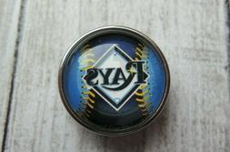 New Tampa Bay Rays MLB baseball snap Noosa Chunk 18-20mm but