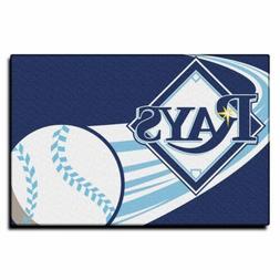 "Northwest MLB Tampa Bay Rays Round Edge Bath Rug 20"" x 30"""
