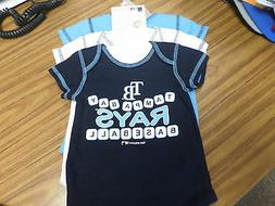 NWT MLB Tampa Bay Rays 3 piece Creeper / BODY SUIT Set - Inf