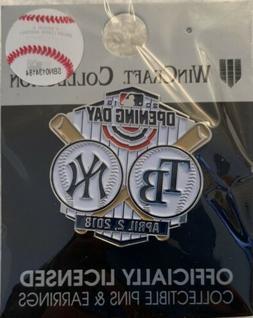 NY YANKEES STADIUM OPENING DAY PIN TAMPA BAY RAYS MLB BASEBA
