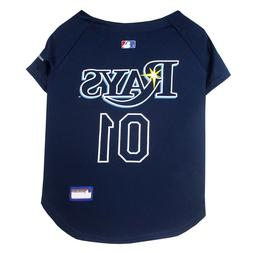 MLB Pet Apparel-Licensed Tampa Bay Rays Pet Jersey