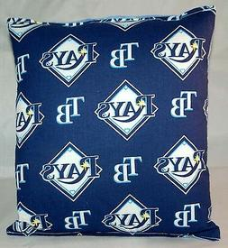 Rays Pillow Tampa Bay Rays Pillow MLB Handmade in USA Pillow