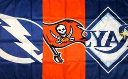 tampa bay buccaneers rays lightning flag 3x5