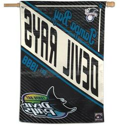 """TAMPA BAY DEVIL RAYS COOPERSTOWN COLLECTION 28""""X40"""" BANNER F"""