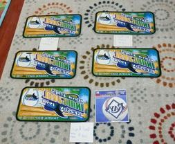 Tampa Bay Devil Rays Memorabilia Lots licence plates magnets