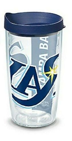 Tampa Bay Rays 16 oz Tervis Tumbler Wrap w Travel Lid, Doubl