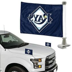 Tampa Bay Rays 2-Pack Ambassador Style Auto Flag Car Banner