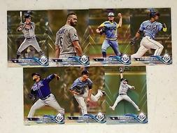TAMPA BAY RAYS 2018 Topps Series 1 GOLD PARALLEL TEAM SET