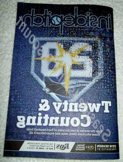 Tampa Bay Rays 20th Anniversary Inside Pitch Magazine Twenty