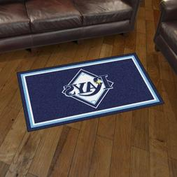 Tampa Bay Rays 3' X 5' Decorative Ultra Plush Carpet Area Ru
