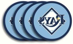 TAMPA BAY RAYS, 4/PACK VINYL COASTER SET FROM DUCKHOUSE SPOR