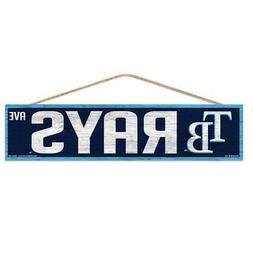 "Tampa Bay Rays 4""x17"" Wood Sign Avenue Design  MLB Street Ba"