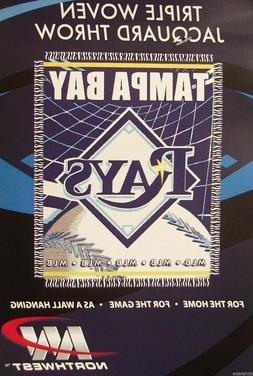 """TAMPA BAY RAYS 48"""" X 60"""" WOVEN JACQUARD AFGHAN THROW BLANKET"""