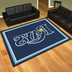 Tampa Bay Rays 8' X 10' Decorative Ultra Plush Carpet Area R