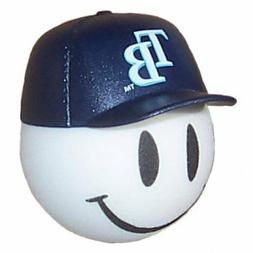 Tampa Bay Rays Baseball Cap Head Car Antenna Ball / Desktop