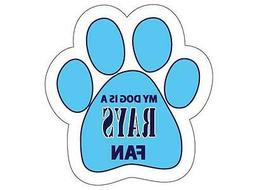 Tampa Bay Rays Car Magnet My Dog Is A Rays Fan Paw Animal Re