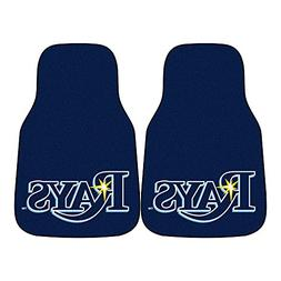 "Tampa Bay Rays 2-piece Carpeted Car Mats 18""x27"