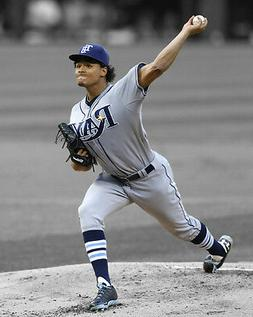 Tampa Bay Rays CHRIS ARCHER Glossy 8x10 Photo Baseball Print