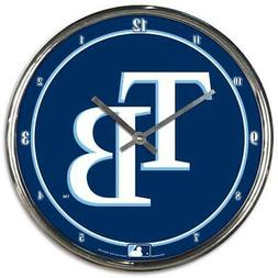 Tampa Bay Rays Chrome Round Wall Clock MLB Sign Banner Offic