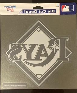 """Tampa Bay Rays Classic 8""""x8"""" Die Cut MLB Letters Logo White"""