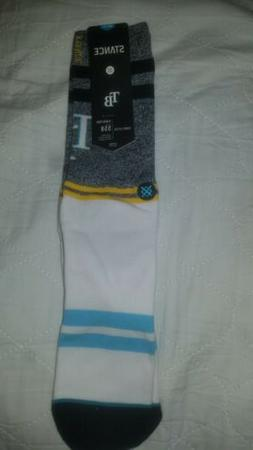 STANCE Tampa Bay Rays Classic Pique Crew Socks Size Large 9-
