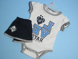 Tampa Bay Rays Creeper & Matching Skirt Outfit Infants 2Pc B