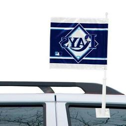 WinCraft Tampa Bay Rays Double-Sided Car Flag - Navy Blue