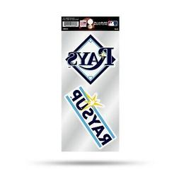 Tampa Bay Rays Double UP 2-Pack Decal Sheet Sticker Auto Hom