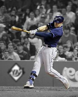 Tampa Bay Rays EVAN LONGORIA Glossy 8x10 Photo Baseball Prin