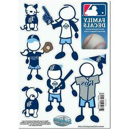 Tampa Bay Rays Family Decals 6 Pack  MLB Small Auto Car Stic