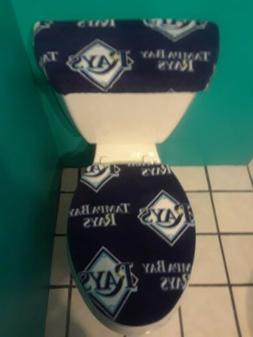 TAMPA BAY RAYS FLEECE TOILET SEAT COVER SET clearance SALE N