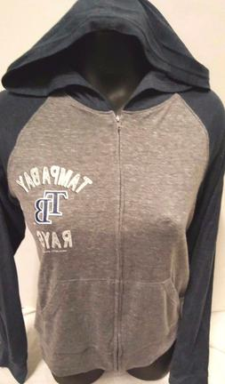 TAMPA BAY RAYS GIRLS JUNIORS FULL ZIPP SWEATSHIRT HOODY NEW
