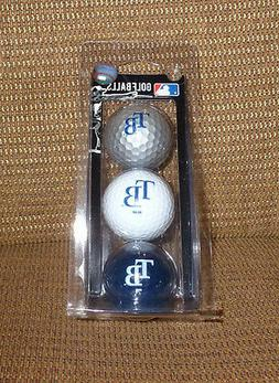 REDUCED-TAMPA BAY RAYS GOLF BALLS-NEW PACK OF 3-MLB-UNIQUE G