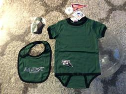 Tampa Bay Rays Green Baby One Piece Set Bib Booties 6-9 Mont