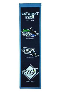 TAMPA BAY RAYS HERITAGE BANNER MLB MAN CAVE GAME ROOM OFFICE