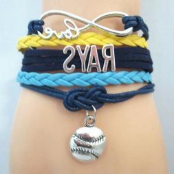 tampa bay rays infinity love bracelet womens
