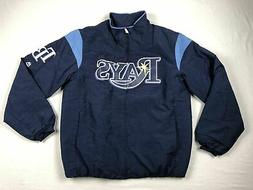 Tampa Bay Rays Majestic Jacket Men's Navy Poly NEW Multiple