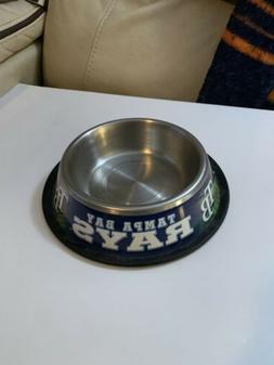 Tampa Bay Rays Large Pet Bowl Mat  MLB Dog Treat Food Water