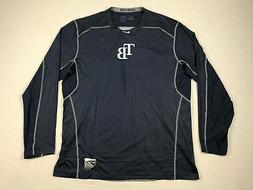 Tampa Bay Rays Nike Long Sleeve Shirt Men's Navy Dri-Fit Fit