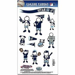 Tampa Bay Rays Medium Family Decals 9 Pack  Auto Car Sticker