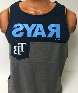 TAMPA BAY RAYS MENS MAJESTIC ATHLETIC TANK TOP SHIRT NEW