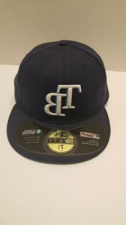 Tampa Bay Rays MLB 7 5/8 Fitted Cap Hat New Era 59Fifty