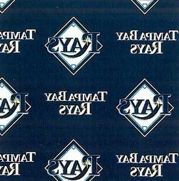 Tampa Bay Rays MLB Baseball Sports Print Fleece Fabric by th